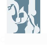 Logo alb complet pentru salon cosmetica canina AlphaPet